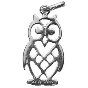 S568: Sterling Silver Owl Charm