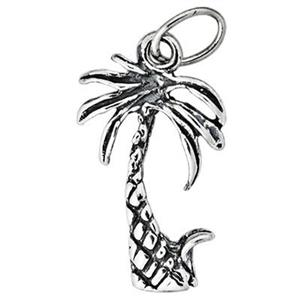 S572: Sterling Silver Palm Tree Charm