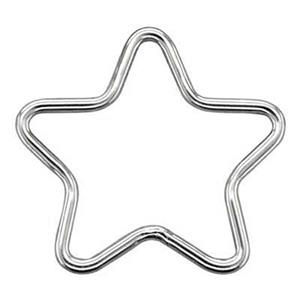 S5752: Sterling Silver Star Wire Link
