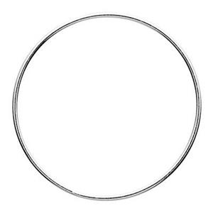 S58925: Sterling Silver 25mm Wire Circle Ring Link
