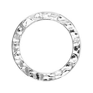 S6012: 12mm Textured Circle Ring Link