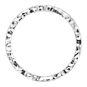 S6025: 25mm Textured Circle Ring Link