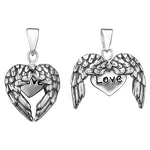S6064: Split Wings Love Hideaway Pendant