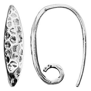 S6389: Sterling Silver Hammered Earwire