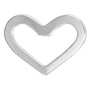 S6507: 20x15.8mm 20ga Heart Ring Link