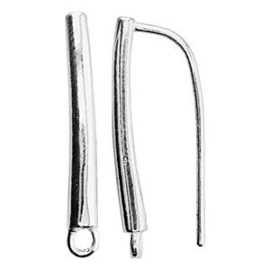 S6533: Sterling Silver Bar Rectangle Earwire