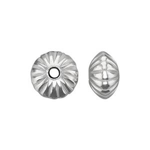 S6626: Sterling Silver Corrugated Saucer Bead