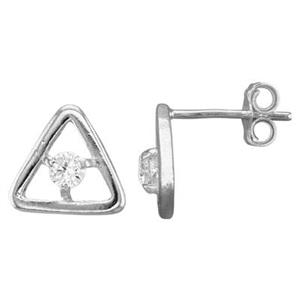 S6811CZ: Triangle Post Earring