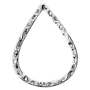 S6913: 17x22mm Textured Teardrop Link