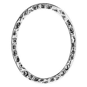 S6915: Textured Oval Link