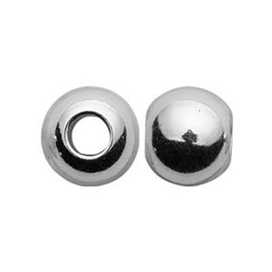 S6M: Sterling Silver 6mm Round Bead