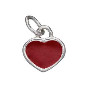 S702E: Enameled Heart Charm