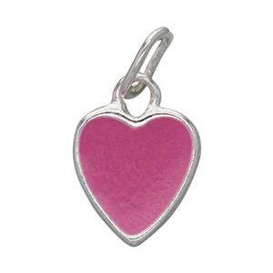 S703E: Enameled Heart Charm