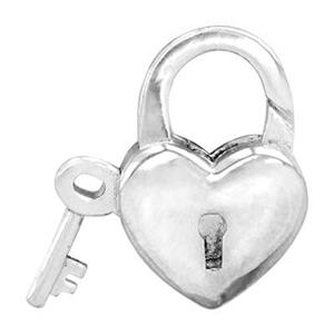 S7049: Heart Lock Lobster Clasp with Key Push Lever