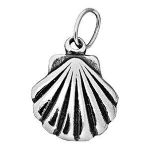 S7197: Sterling Silver Clamshell Charm