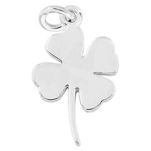 S7243: Sterling Silver Lucky Four Leaf Clover Charm