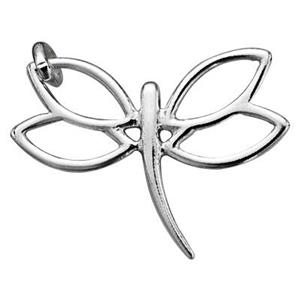S7289: Sterling Silver Dragonfly Charm