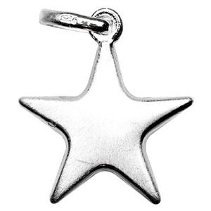 S7412: Sterling Silver Puff Star Charm