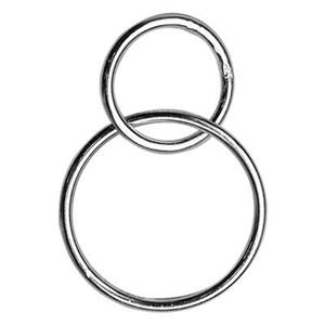S7528: Sterling Silver Circle Chain Segment Link