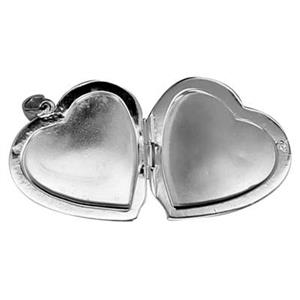 S7538: Sterling Silver Heart Photo Locket