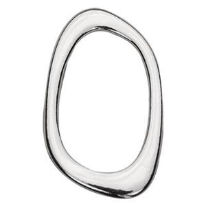 S7619: Sterling Silver Organic Oval Link