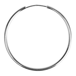 S7940: Sterling Silver 40mm Endless Hoop Earring