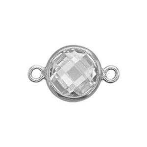 S796CZ: Double Sided Checkerboard Link with 6mm CZ