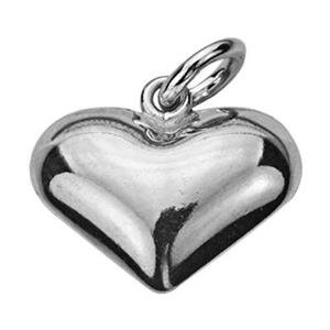 S8035: Sterling Silver Puff Heart Charm
