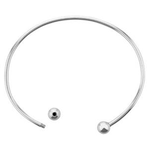 S92507: Sterling Silver Interchangeable Wire Cuff Bracelet
