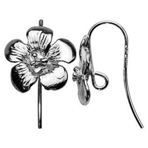 SA140: Sterling Silver Large Flower Earwire