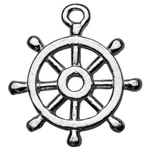 SA213: Sterling Silver Captais Wheel Charm