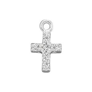 SA30CZ: Sterling Silver CZ Set Cross Pendant