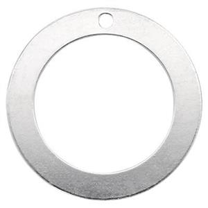 SB11:Sterling Silver Washer Circle Charm