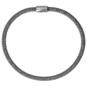 SBBMAG: Sterling Silver Rhodium Plated Magnetic Bangle