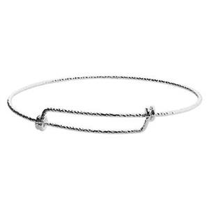 SC67SS: 2.5in, 1.5mm 15ga Sparkly Adjustable Bracelet