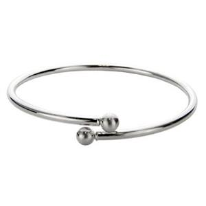 SCA160: Sterling Silver Twist to Open Bangle