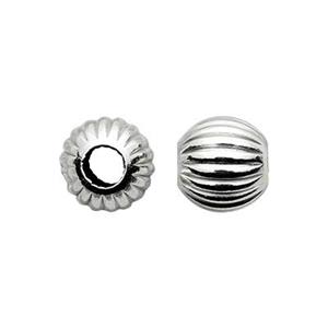 SCOR5: Sterling Silver 5mm Corrugated Round Bead