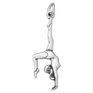 SD303: Sterling Silver Gymnast Charm