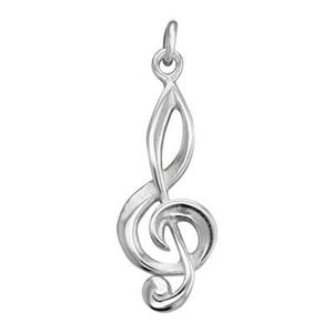 SD318: Sterling Silver Treble Clef Charm