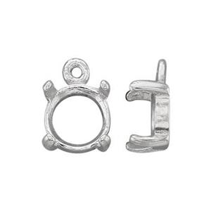 SEC3906: 6mm Round 4-Prong Cab Charm Setting