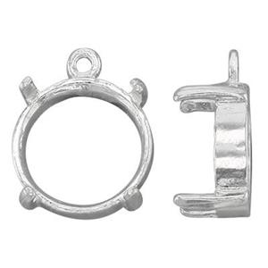SEC3910: Round Cab Charm Setting, Closed Ring ID