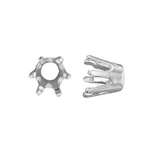 SEF16904: 4mm Round 6-Prong Setting Head
