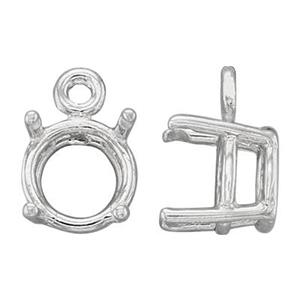SEF3908: 8mm Round 4-Prong Charm Setting