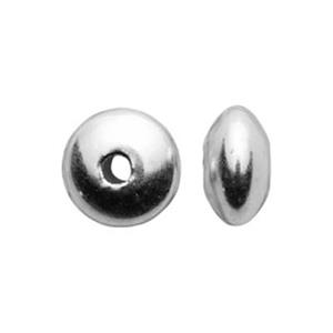 SF35: Sterling Silver 5.7mm Saucer Beads