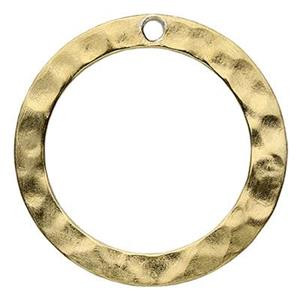 SG10012: Gold-Plated Sterling Silver Hammered Ring Link