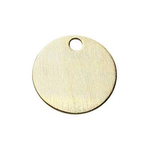 SG10015: Gold-Plated Sterling Silver 9mm Circle Blank