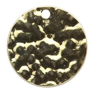 SG10016: Gold-Plated Sterling Silver Hammered Circle Drop