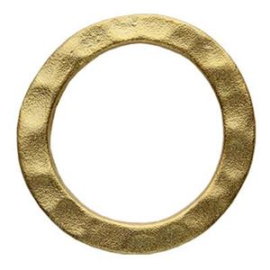 SG125: Gold-Plated Sterling Silver 14.2mm Hammered Ring Link