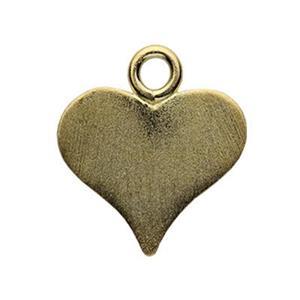SG1519: Gold-Plated Sterling Silver Pointed Heart Blank