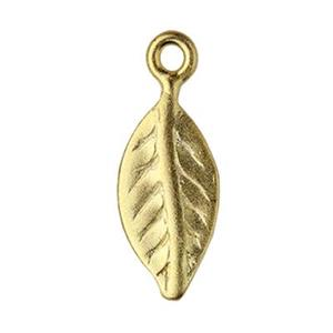 SG191: Gold-Plated Sterling Silver Leaf Charm